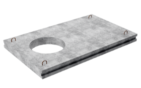 Плиты перекрытия теплокамер ПК24-15