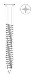 Острые шурупы E-DB TK (Для втулок Rufix. Покрытие Duplex)