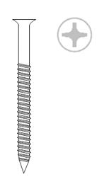 Острые шурупы Sc K BHP (Для втулок Rufix. Покрытие Kitex)