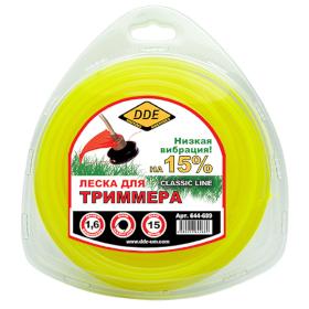 Корд триммерный DDE «Classic line» (круг, желтый)