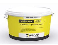 Силикатная фасадная краска Weber.ton Silikat